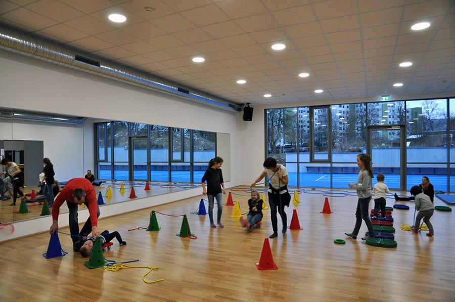 Trainingsflächen in neuen Sportvereinszentrum