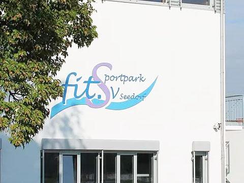 SV Seedorf fitSportpark Beratung-Rehasport-einführen-Kunde-Flowcon-hier-Gebäude-von-außen