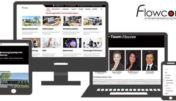 Update - neue Homepage für die Flowcon Unternehmensberatung GmbH Beitragsbild