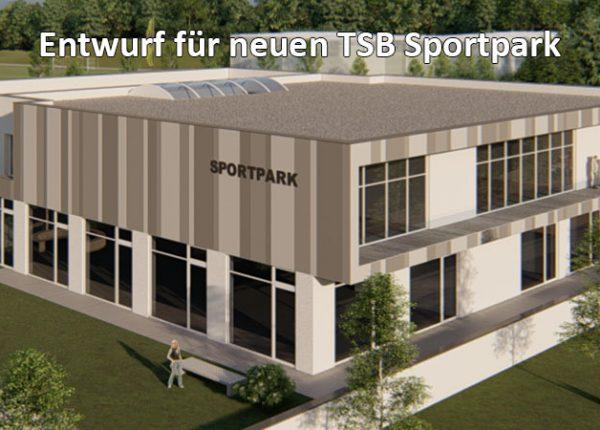 TSB Schwäbisch Gmünd - Entwurf Abbildung des geplanten neuen Sportparks