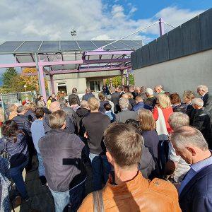 Besucher beim Spatenstich am 18.10.2019 in Weinstadt