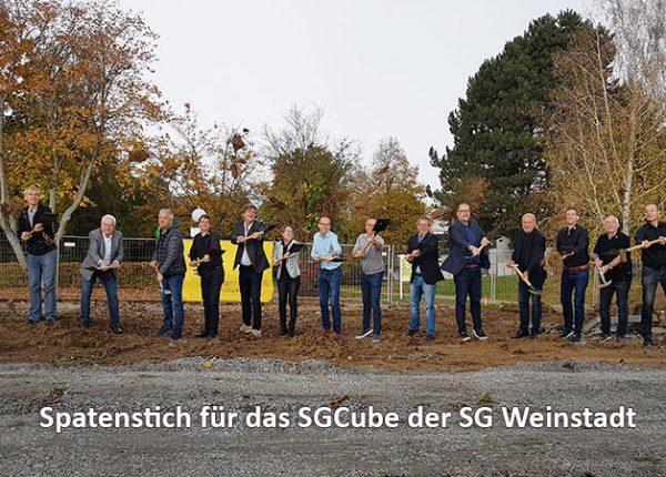 Offizieller Spatenstich SGCube der SG Weinstadt am 18.10.2019