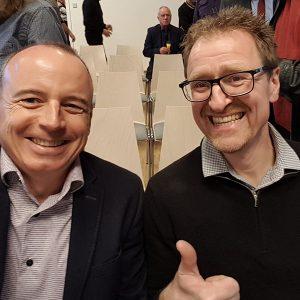 Winfried Möck und Marcus Lachenwitzer bei der Eröffnung des Sport- und Gesundheitscenter Ettenkirch